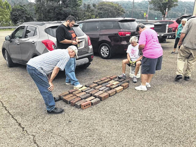 The inaugural brick swap in Middleport was held on Saturday with collectors meeting to swap bricks from around the region and beyond.