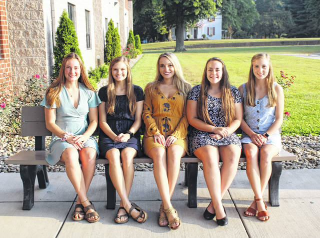 Party in the Park Queen candidates are (from left) Baylee Wolfe, Phoenix Cleland, Shelby Cleland, Sydney Adams and Mickenzie Ferrell.