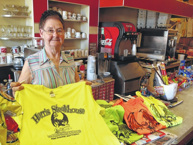 The late Carolin Harris, former owner of Harris Steakhouse, pictured in 2016, helped start the Mothman Festival and became a recognizable face for those tourists who will be descending on Point Pleasant over the next few days.