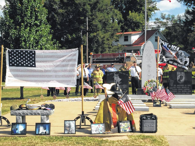 The annual 9-11 memorial ceremony in Racine was held on Saturday.