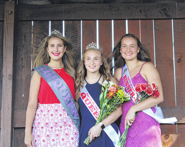 Mickenzie Ferrell was crowned the 2019 Racine Party in the Park Queen on Saturday afternoon. Baylee Wolfe was named the First Runner Up. Ferrell and Wolfe were crowned by 2018 Party in the Park Queen Marissa Brooker. Pictured (from left) are 2018 Queen Marissa Brooker, 2019 Queen Mickenzie Ferrell and 2019 First Runner Up Baylee Wolfe. Coverage of the 2019 Party in the Park will appear in upcoming editions of The Daily Sentinel.