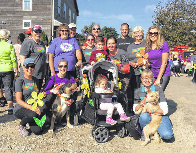 Some of the TEAM 53 members are pictured at the 2018 walk.
