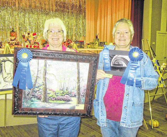 Rhojean McClure and Jennifer Harrison received Best of Show honors for their respective entries in the 2018 show.