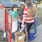 Girl Scouts complete service project