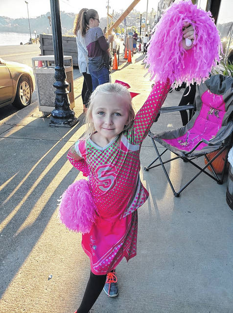 Alexis Schaefer, age 6, is dressed as Addison from Disney Zombies for Pomeroy's Treat Street.