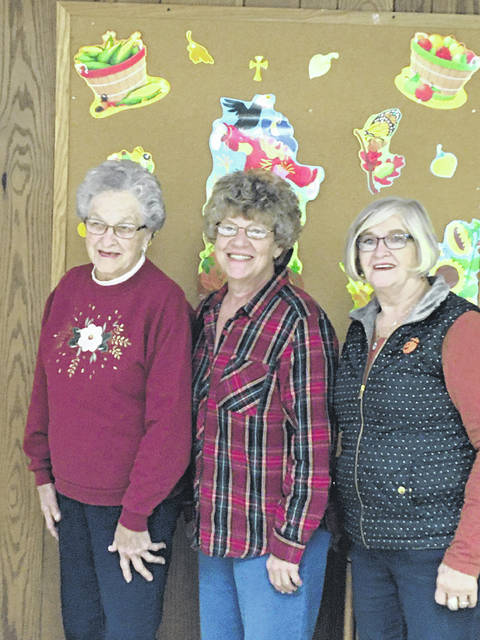 Three KOPS from TOPS OH#2013, Tuppers Plains attended the Fall Rally in Grove City, Ohio. Pictured are (from left), Roberta Henderson, Cindy Hyde and Pat Snedden.