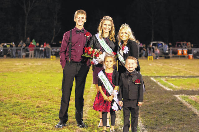 Megan Ross was crowned the 2019 Eastern High School Homecoming Queen on Friday evening during halftime of the football game against Wahama. Ross (back row, center) is pictured with escort Colton Reynolds, 2018 Queen MacKenzie Smith, Flower Girl Abbie Bartlett and Crown Bearer Kash Gheen. Additional photo from the 2019 Eastern High School Homecoming appear inside today's edition and online at mydailysentinel.com. (Photo courtesy of Bartee Photography)