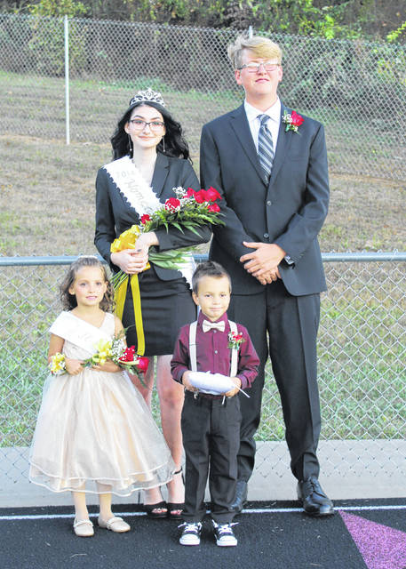 Kassandra Coleman was crowned the 2019 Meigs High School Homecoming Queen on Friday evening in a ceremony held before the Marauders' football game. Coleman was escorted by Dawson Justice. Pictured with Coleman and Justice are Flower Girl Myla Shipe and Crown Bearer Solomon Jones. Additional photos from the Meigs Homecoming and Reunion on the River activities appear inside today's edition and online at mydailysentinel.com.