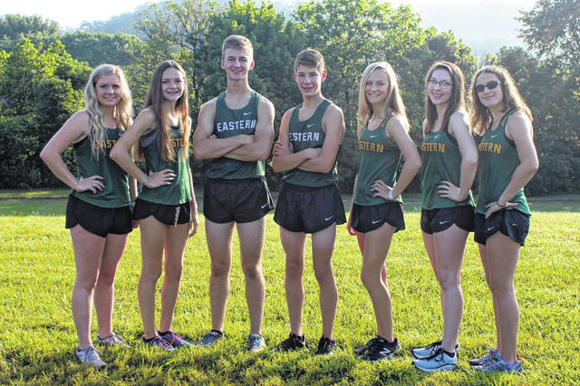Pictured above are members of the 2019 Eastern varsity cross country team. Standing from left to right are Whitney Durst, Erica Durst, Colton Reynolds, Brayden O'Brien, Ashton Guthrie, Alysa Howard and Lexa Hayes.