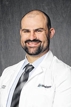 Charles Bishop, MD, orthopedic surgeon.