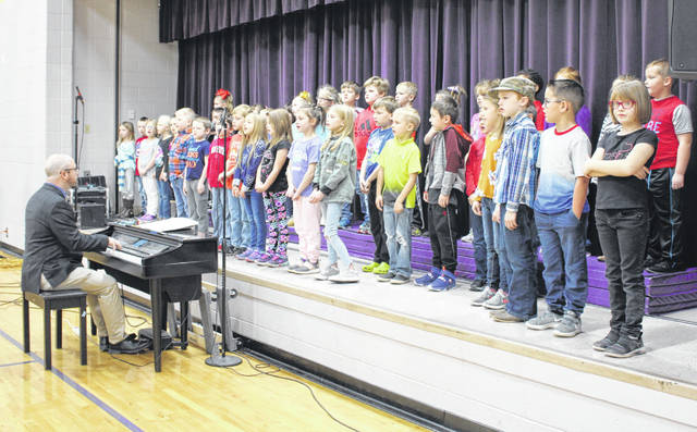 """Southern 1st graders preformed several patriotic somgs including """"America the Beautiful""""."""