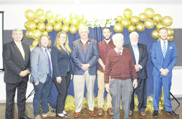 The 2019 Meigs Chamber Award recipients are pictured following the presentation of the awards during the annual gala held at Kountry Resort Campground.
