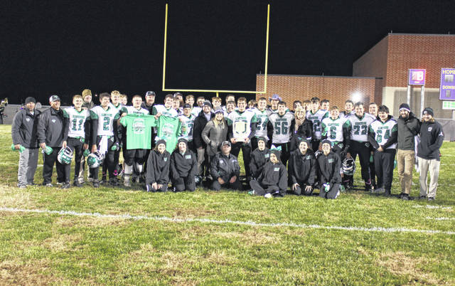 """The Eastern football team defeated Southern on Saturday evening in Racine to claim the first """"Rivalry on the River"""" trophy, as well as their first postseason appearance since 2001. The Rivalry on the River contest — with the slogan voted on by the two high schools — was presented by Farmers Bank and RPG Management. The traveling trophy will stay with the Eagles throughout the year, before being presented to the winner of the 2020 game between the two schools. For more on the game see page 6 of Tuesday's The Daily Sentinel or visit mydailysentinel.com."""