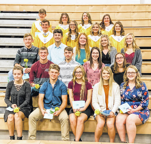 Eastern High School National Honor Society members are pictured following the induction ceremony for new members held recently at Eastern High School. Pictured are (front, from left) KayCee Shreckengost, Blake Newland, Faith Bauerbach, Jonna Epple, Kelsey Roberts; (second row, from left) Mason Dishong, Derrick Metheney, Alyssa Howard, Lexa Hayes; (third row, from left) Jake Barber, Matthew Blanchard, Layna Catlett, Whitney Durst, Ashton Guthrie; (fourth row, from left) Michael Letson, Teddi Casto, Aubrey Lyons, Hayley Blankenship; (back, from left) Garrett Barringer, Emily VanMeter, Kaylee Savoy and Gabrielle Beeler.