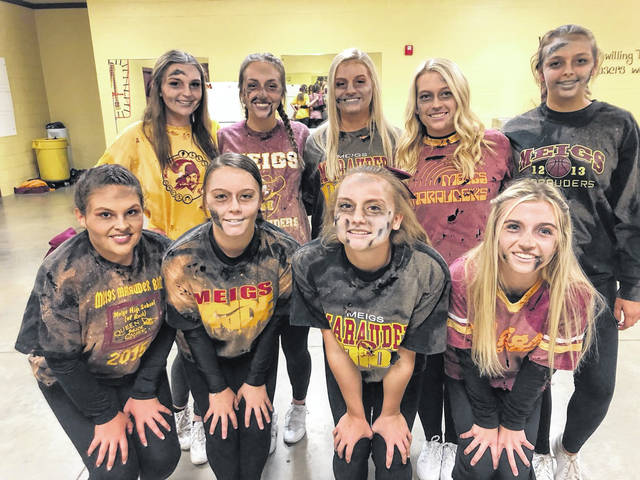 The Meigs High School Cheerleaders got in the Halloween spirit, dressing as zombies for the Marauders' game on Halloween night.