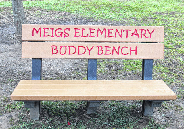 The new buddy benches are in place on the playgrounds at Meigs Primary School.