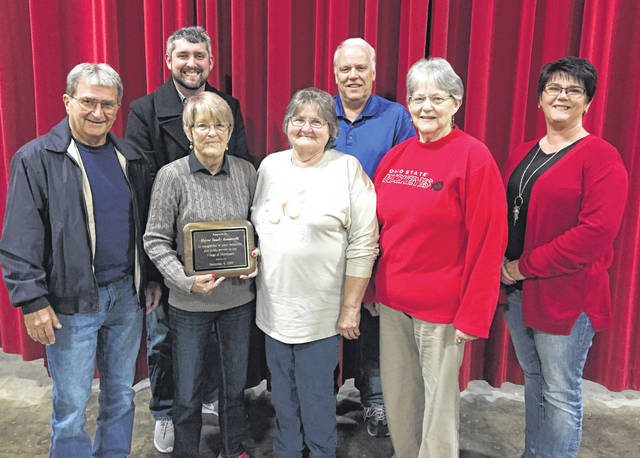 Council members recognized outgoing mayor Sandy Iannarelli during Monday evening's council meeting. Pictured are (from left to right) Emerson Heighton, Ben Reed, Sandy Iannarelli, Sharon Older, Brian Conde, Susie French and Susan Page.