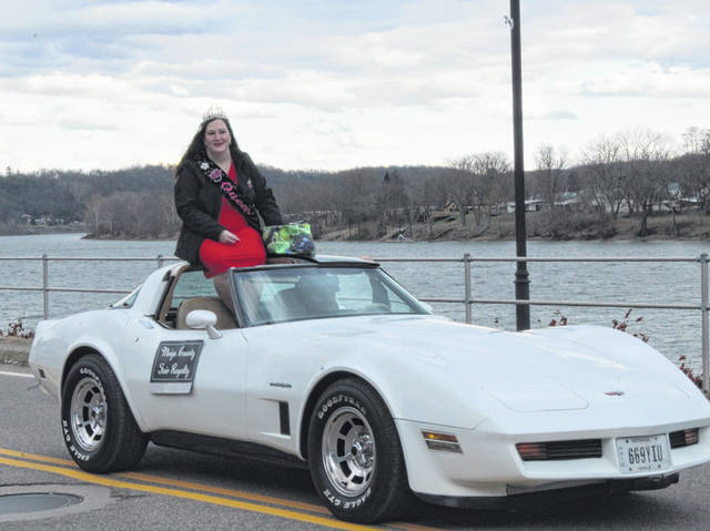 The 2019 Meigs County Fair Queen Gabrielle Beeler took part in the Pomeroy Christmas Parade on Sunday.