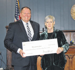 Chief Justice presents grant funds