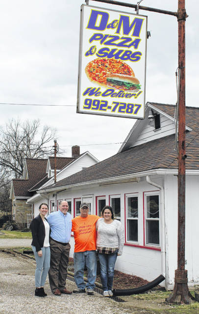 Marty Morarity officially handed over ownership of D&M Pizza to his daughter Brittany Morarity at the end of 2019. Pictured on his final day at the business are Sysco representatives Holly Taylor and Matthew Glover, Marty Morarity and Brittany Morarity.