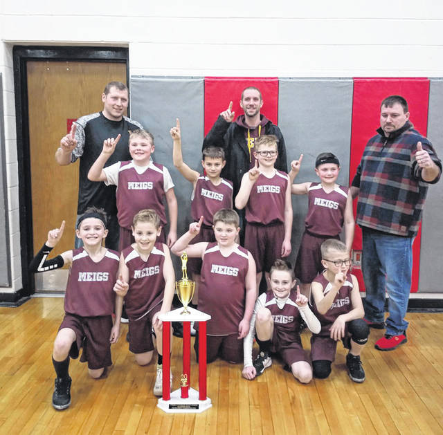 The Meigs 3rd Grade Boys Basketball finished an undefeated season in the Big Bend Basketball League as well as their four post season tournament games, with a combined 21-0 overall record for the 2019-20 season. Pictured following their championship win this weekend are (front row) Ethan Grimm, Jeremiah Martin, Braxtyn Goode, Jack Glaze, Braydin Goode, (middle row) Colt Dodson, Easton Williams, Gavin Will, Zane Williams, (back row) Coaches Chris Goode, Skip Dodson, and Tucker Williams.