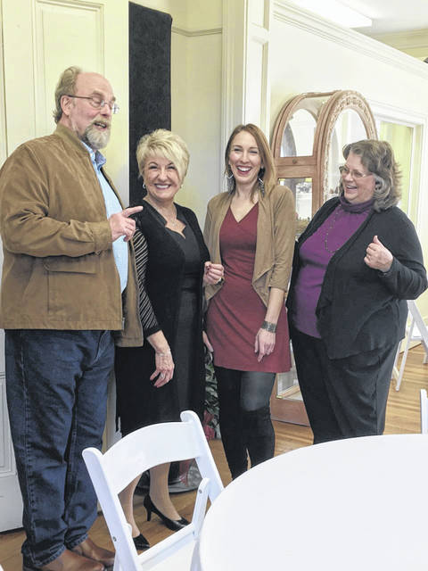 Rachel Harper, pictured third from left, was recently named the executive director of the French Art Colony, according to Cindy Sexton, chair of the FAC Board, pictured second from left. A reception was held last month welcoming Harper and was attended by many in the community, including fellow supporters of the arts, Tim and Lora Snow, also pictured.