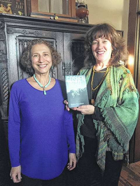Author Bonnie Proudfoot is pictured with Brickhouse Apothecary owner Maureen Burns during her book signing there on Saturday.
