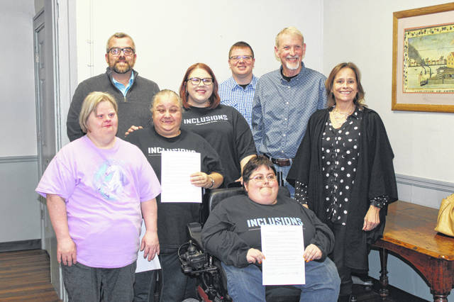 The Meigs County Commissioners recently recognized March as Developmental Disabilities Awareness Month. Representatives from the Meigs County Board of Developmental Disabilities, Inclusions, Meigs Industries and others were on hand for the proclamation.