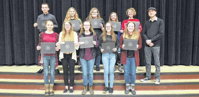 Members of the Meigs Middle School Honors Band were recognized during the recent board meeting.