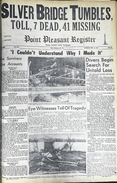 The Dec. 16, 1967 edition of the Point Pleasant Register.