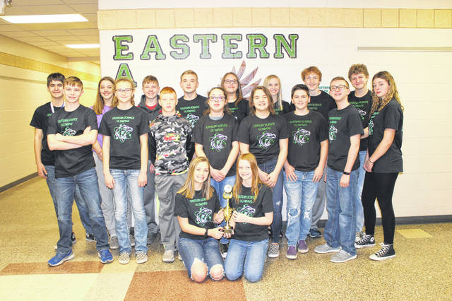 Participants on the Eastern Science Olympiad team included: Evan Anderson, Cooper Barnett, Audry Clingenpeel, Alex Collins, Tyler Hill, Kayla Sellers, Rylan Weeks, Rylee Barrett, Peyton Buckley, Hannah Burton, Abby Guthrie, Emmalyn Hayes, Graycie Lamb, Hope Reed, Aszandra Schultz, Seth Collins, Grant Martin, Koen Sellers and Lilly Suttle.