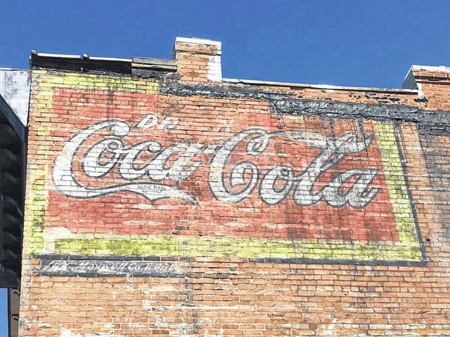 This Coca-Cola advertisement recently discovered on the side of the former Harris Steakhouse in downtown Point Pleasant.