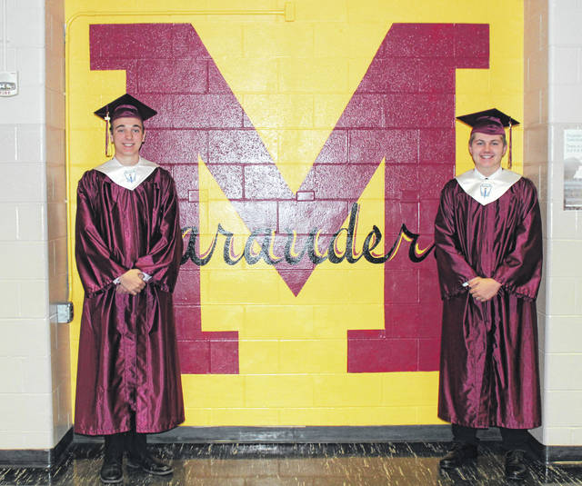 Salutatorian Jacob McConnell and Valedictorian Austin Mahr