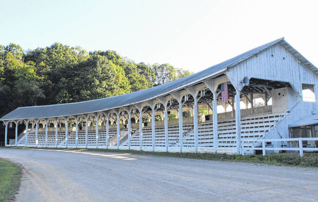 The historic Meigs County Fairgrounds Grandstand is seen in this photo from the 2019 fair. The Meigs County Fair Board is proceeding with plans for the annual fair to take place this August.