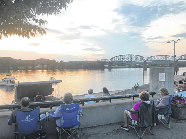 Pictured is an evening along the river during a recent Mayor's Night Out free concert at Riverfront Park. (Beth Sergent | OVP)