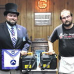 Masonic Lodge received AEDS from Middleport FD