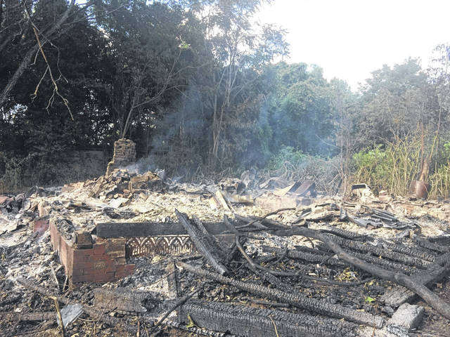 A fire destroyed a structure on Bucktown Road in late July. The Fire Marshal's office is seeking information about this and other fires in the county.