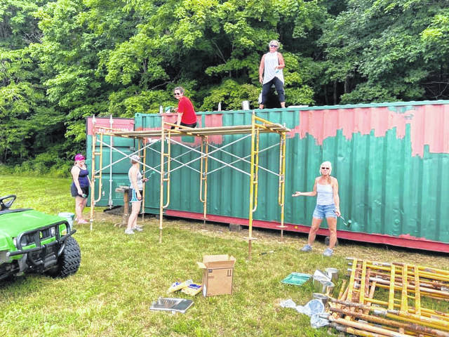 While COVID-19 restrictions have closed Canter's Cave 4-H Camp for the summer several upgrades have been taking place.