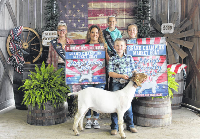 Alexa Ingels' Grand Champion Market Goat was purchased for $4,000 by Gavin Power Plant.