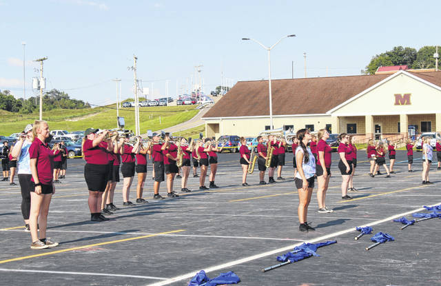 Meigs band members perform during the 2019 band camp. Band camp and other summer activities have been impacted by the COVID-19 pandemic.