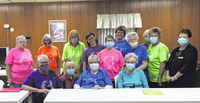 TOPS OH#2013 recently had a visit from Southern Ohio TOPS Area Coordinator, Diane Herbert. Pictured with here are: (back row) Glenda Hunt, Pat Snedden, Anna Nelson, Mary Rankin, Connie Rankin and Carlene Triplett; (second row) Judy Morgan, May Frost, Cindy Hyde and AC, Diane Herbert; (front row) Kathy McDaniel, Nola Easterling, Sue Maison and Roberta Henderson. Diane congratulated the chapter on a job well done in weight loss success stories (KOPS). She spoke about how TOPS offers the tools that you need for your personalized weight loss journey. Social distancing and masks are requested for meetings but forewent momentarily for photo purposes only. (Submitted by Kathy McDaniel).