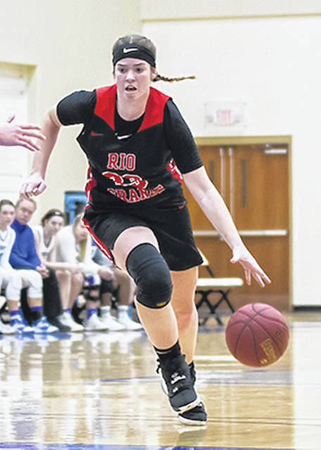 Rio Grande sophomore forward Lexi Woods was among those named to the preseason All-River States Conference women's basketball team on Wednesday. The RedStorm were picked to finish second in the league overall and second in the East Division.