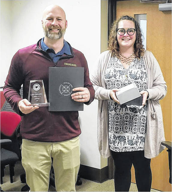 Jesse McKendree was recognized at the recent Meigs Local Board of Education meeting for receiving the Franklin B. Walter Award earlier this year. McKendree was nominated by Danielle Polk.