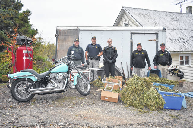 The Meigs County Sheriff's Office located numerous stolen items during a search in Long Bottom on Monday.