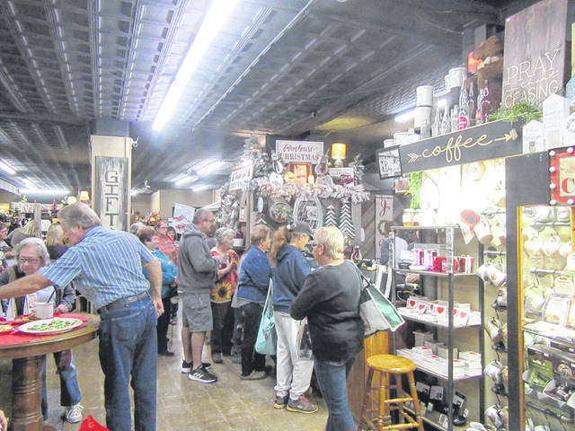 Shoppers browse through Weaving Stitches during a past Christmas Open House shopping event.
