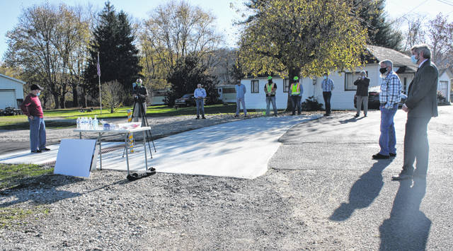 A small ribbon cutting event was recently held for Phase 2 of the multi-use trail in Middleport.