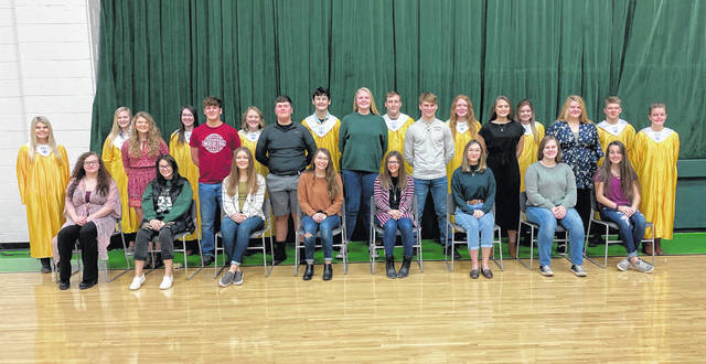 Eastern High School National Honor Society members are pictured following the recent induction ceremony.