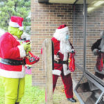 A visit from Santa and the Grinch