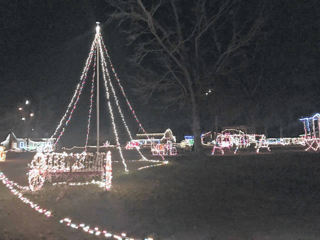 The Christmas Light Show at the West Virginia State Farm Museum is open through Dec. 20.