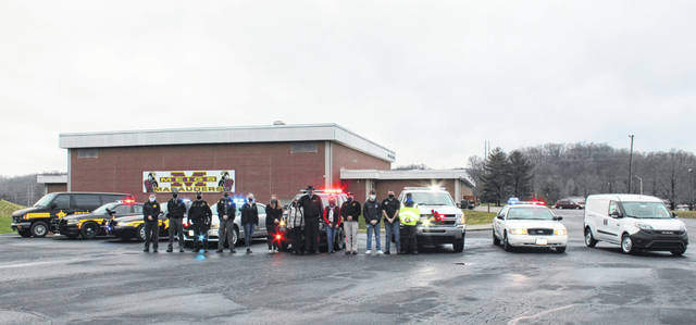 Representatives from local law enforcement and first responder agencies, along with Mark and Theresa Porter and Loyalty is Forever representatives took part in delivering Shop with a Cop gifts to area kids on Monday.